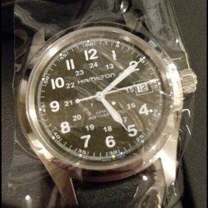size 40 7b4c2 06006 Hamilton Khaki Field Auto | Dark-Green | Display Back ...