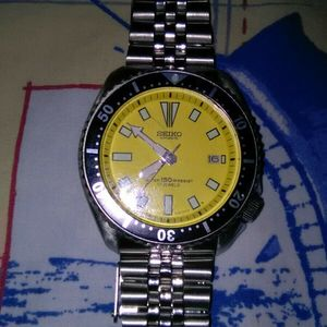 Seiko 7002/scuba diver Automatic, 150,s s  band,watch work