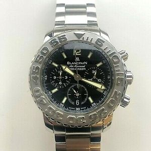Blancpain Air Command Flyback Chrono Mens Watch 2285f 1130 71 Selling As Is Watchcharts