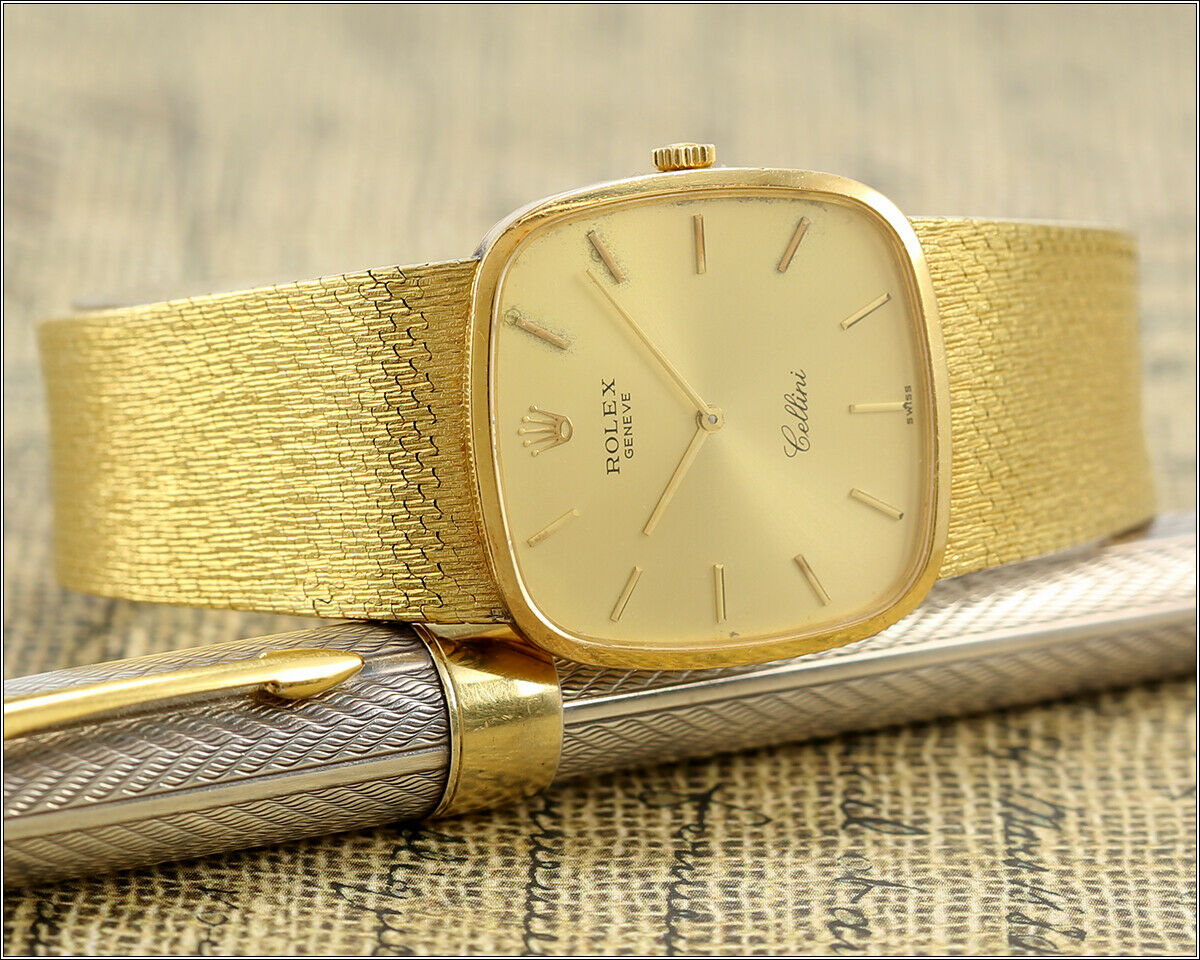 Vintage Rolex Cellini 18k Solid Gold Manual Wind Cal 1601 Watch Unisex Watchcharts