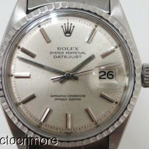 Vintage Rolex 1967 Datejust 1603 Watch Riveted Oyster Band Watchcharts