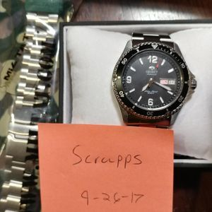 Wts Orient Mako 2 Black And Strapcode Super Oyster Bracelet For